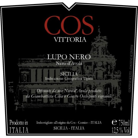 Cos Nero Di Lupo 2009 Front Label
