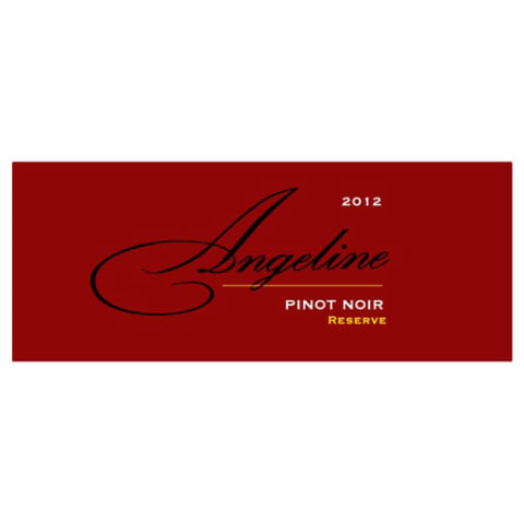 Angeline Reserve Pinot Noir 2012 Front Label