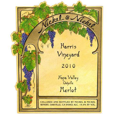 Nickel & Nickel Harris Vineyard Merlot 2010 Front Label