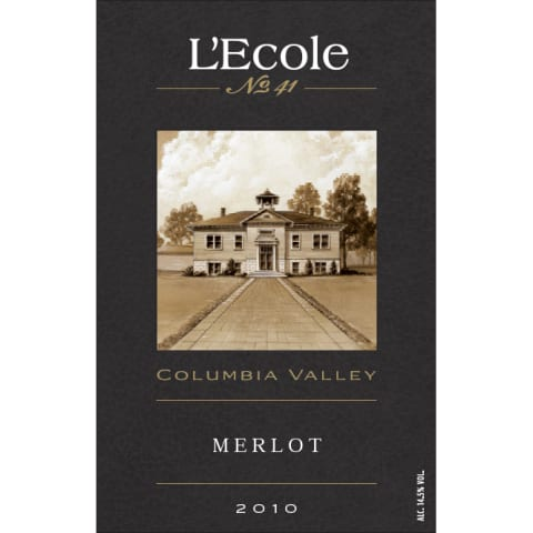 L'Ecole 41 Columbia Valley Merlot 2010 Front Label