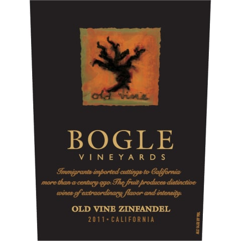 Bogle Old Vines Zinfandel 2011 Front Label