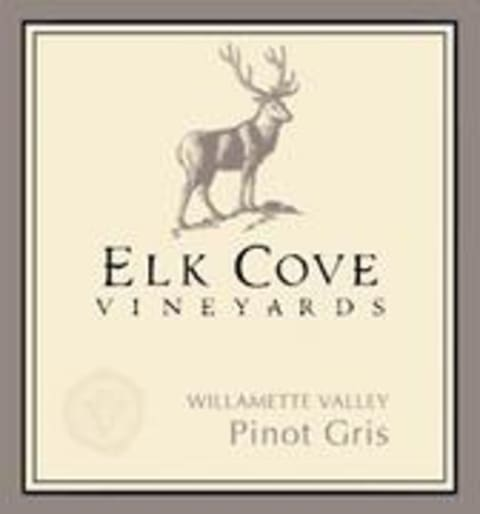 Elk Cove Pinot Gris 1999 Front Label