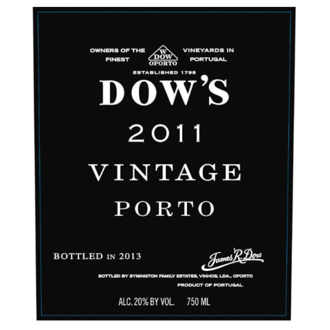 Dow's Vintage Port 2011 Front Label