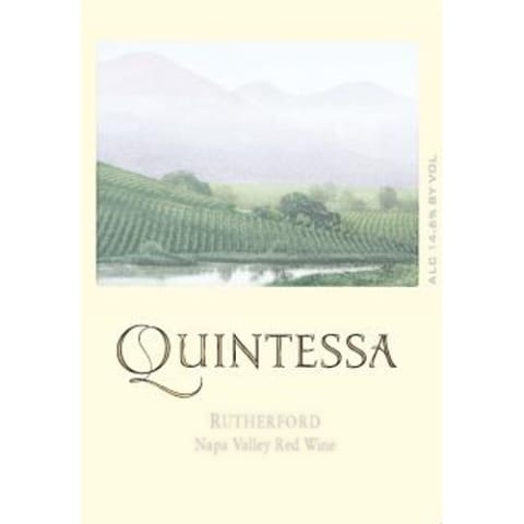 Quintessa  2010 Front Label