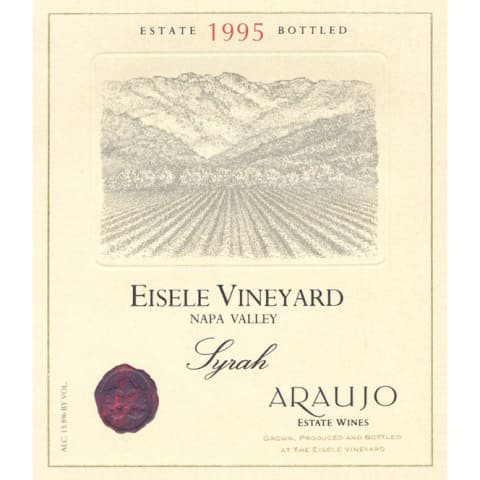 Araujo Eisele Vineyard Syrah 1995 Front Label