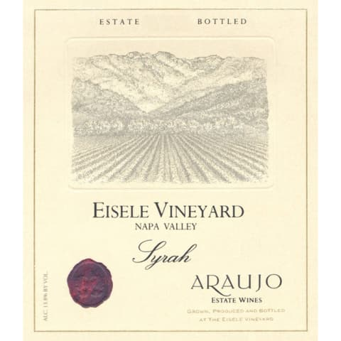 Araujo Eisele Vineyard Syrah 1993 Front Label