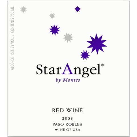 Montes Star Angel Paso Robles Syrah 2008 Front Label