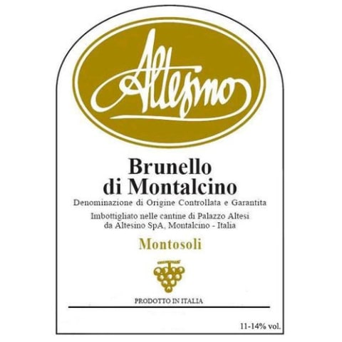 Altesino Montosoli Brunello di Montalcino (5 Liter Bottle) 2008 Front Label