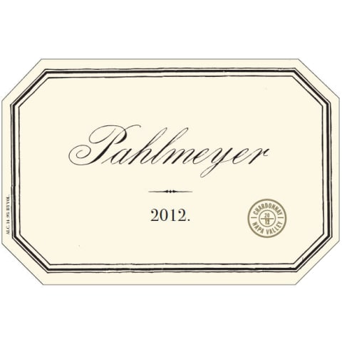 Pahlmeyer Napa Valley Chardonnay 2012 Front Label