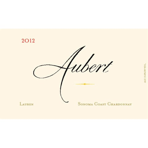 Aubert Lauren Vineyard Chardonnay 2012 Front Label