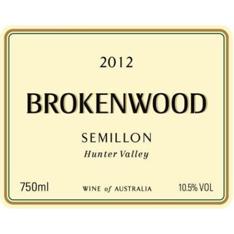 Brokenwood Hunter Valley Semillon 2012 Front Label