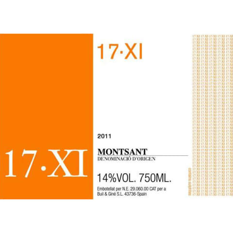 Buil and Gine Montsant 17-XI 2011 Front Label