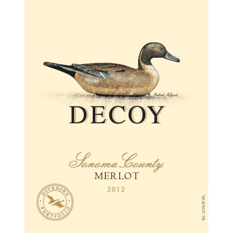 Decoy Merlot 2012 Front Label