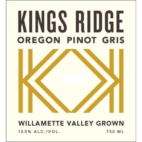 Kings Ridge Pinot Gris 2013 Front Label