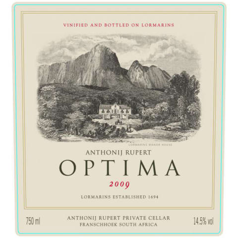 Anthonij Rupert Optima 2009 Front Label