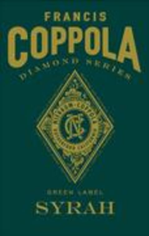 Francis Ford Coppola Diamond Collection Syrah 1998 Front Label
