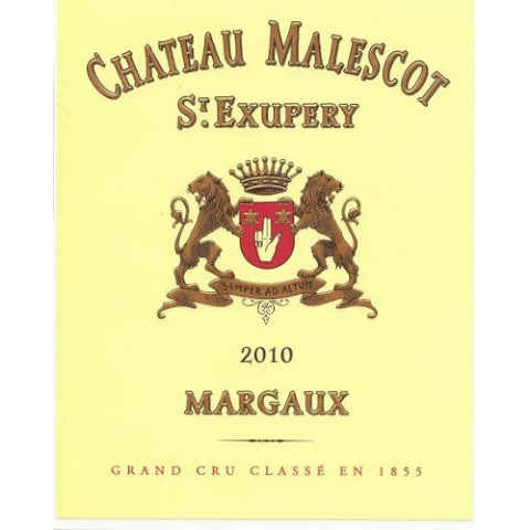 Chateau Malescot St. Exupery  2010 Front Label