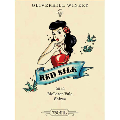 Oliverhill Red Silk Shiraz 2012 Front Label