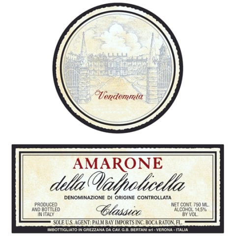 Bertani Amarone Classico 2005 Front Label