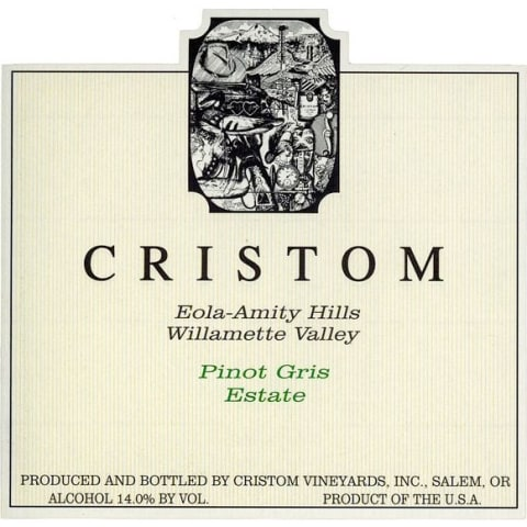 Cristom Pinot Gris 2014 Front Label