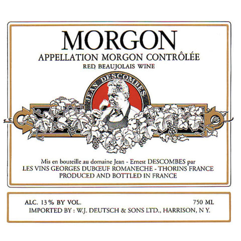 Duboeuf Morgon Jean-Ernest Descombes 2012 Front Label