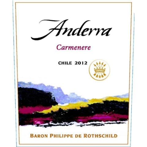 Anderra Carmenere 2012 Front Label