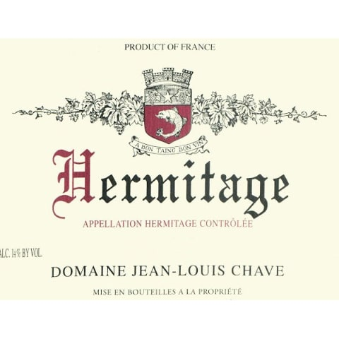 Jean-Louis Chave Hermitage 1997 Front Label