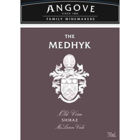Angove Family Winemakers The Medhyk Shiraz 2010 Front Label