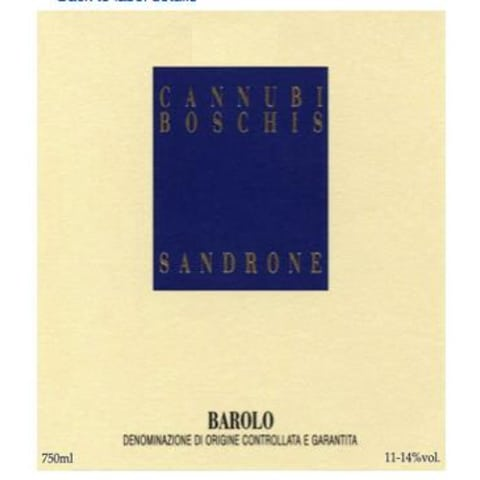 Sandrone Barolo Cannubi Boschis 2010 Front Label