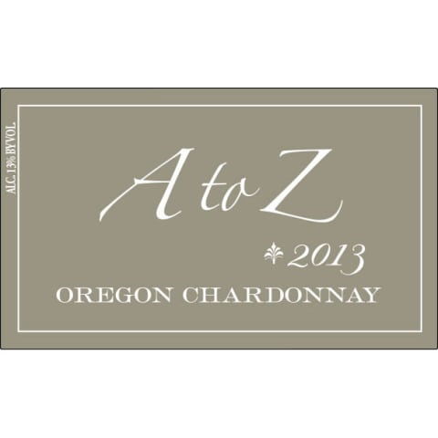 A to Z Chardonnay 2013 Front Label