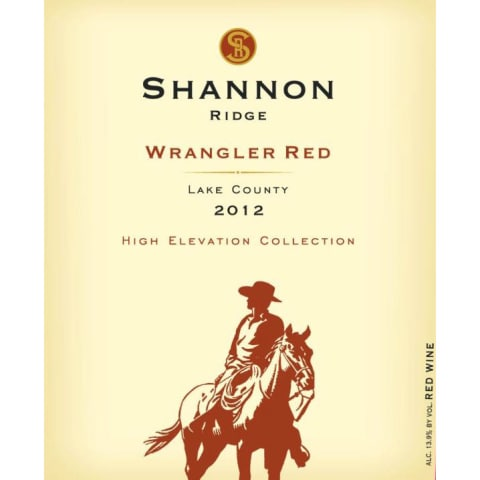 Shannon Ridge Wrangler Red 2012 Front Label