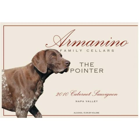 Armanino The Pointer Cabernet Sauvignon 2010 Front Label