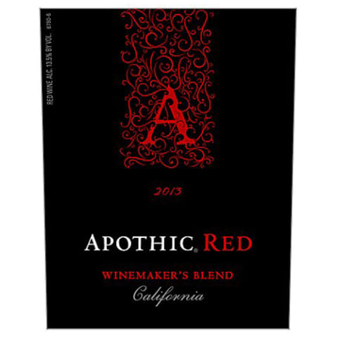 Apothic Red Blend 2013 Front Label