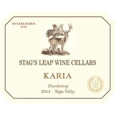 Stag's Leap Wine Cellars KARIA Chardonnay 2013 Front Label