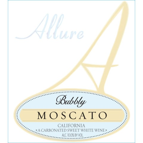 Allure Bubbly Moscato Front Label