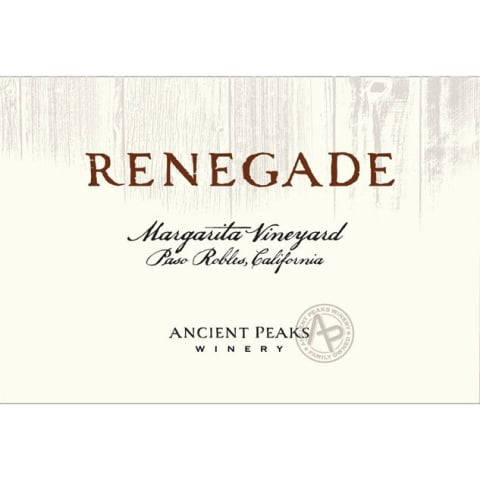 Ancient Peaks Paso Robles Renegade 2012 Front Label