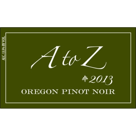 A to Z Pinot Noir 2013 Front Label