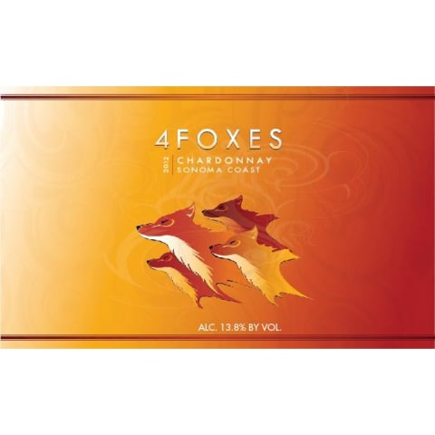 4 Foxes Sonoma Coast Chardonnay 2012 Front Label