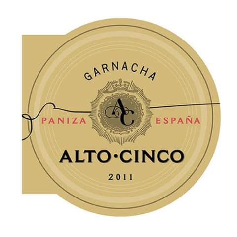Alto Cinco Garnacha 2011 Front Label