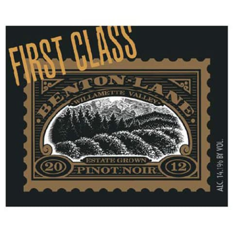 Benton Lane First Class Pinot Noir 2012 Front Label