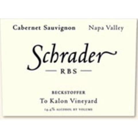 Schrader RBS To Kalon Vineyard Cabernet Sauvignon 2004 Front Label