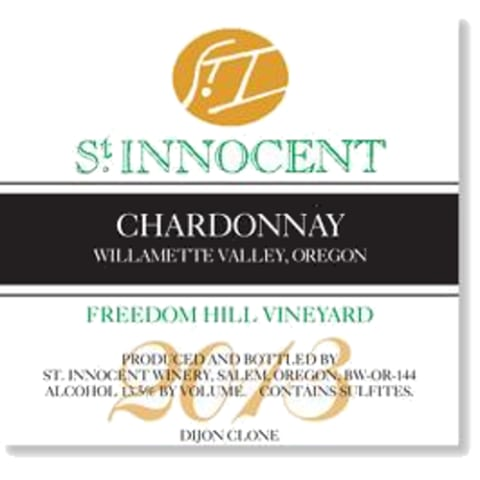 St. Innocent Freedom Hill Chardonnay 2013 Front Label