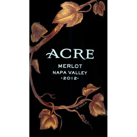 Acre Merlot 2012 Front Label