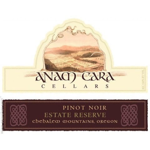 Anam Cara Reserve Estate Pinot Noir 2011 Front Label