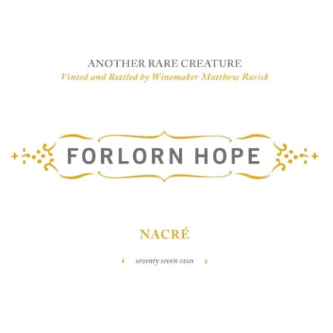 Forlorn Hope Nacre Semillon 2010 Front Label