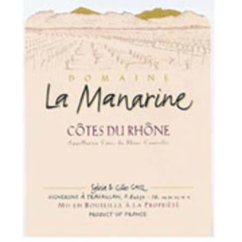 La Manarine Rose 2014 Front Label