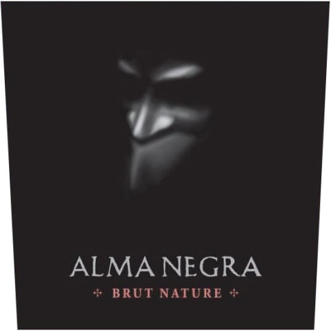 Alma Negra Brut Nature Rose Front Label