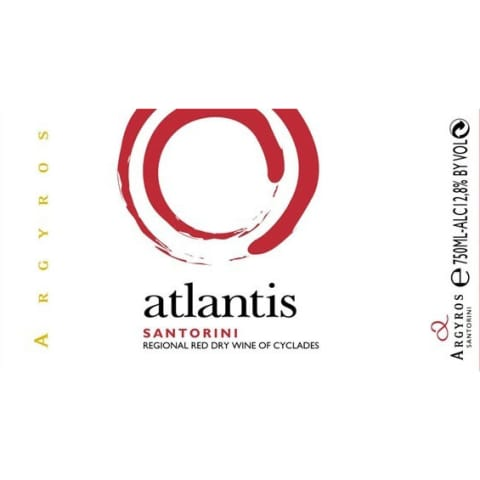 Argyros Atlantis Red 2012 Front Label