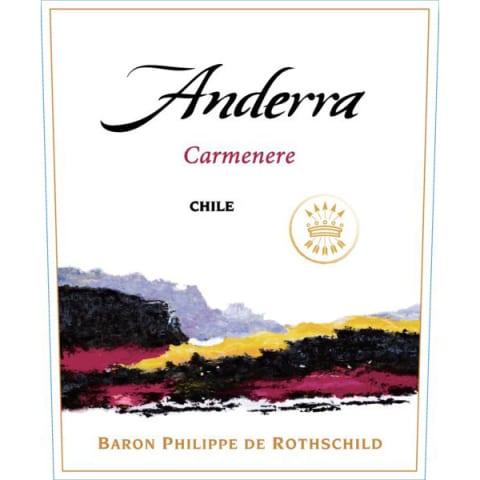 Anderra Carmenere 2013 Front Label