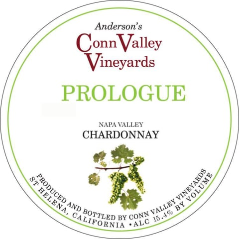 Anderson's Conn Valley Vineyards Prologue Chardonnay 2010 Front Label